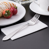 World Tableware 980 030 Neptune 7 1/2 inch 18/8 Stainless Steel Extra Heavy Weight Dessert Fork - 36/Case