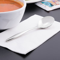 World Tableware 937 016 Slenda 6 3/8 inch 18/8 Stainless Steel Extra Heavy Weight Bouillon Spoon - 36/Case
