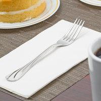 World Tableware 491 030 Serenade 7 1/8 inch 18/8 Stainless Steel Extra Heavy Weight Utility / Dessert Fork - 12/Case