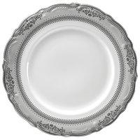 10 Strawberry Street VAN-2P Vanessa 9 inch Platinum Luncheon Plate - 24/Case