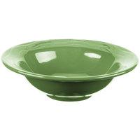 Syracuse China 903035019 Cantina 12 oz. Sage Carved Porcelain Grapefruit Bowl - 12/Case