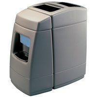 Commercial Zone 75810599 55 Gallon Islander Series Haven 1 Gray Waste Container with Paper Towel Dispenser and Windshield Wash Station