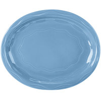 Syracuse China 903032008 Cantina 11 5/8 inch x 9 1/4 inch Blueberry Carved Platter - 12/Case