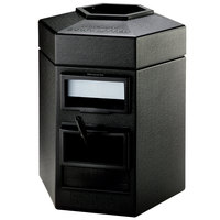 Commercial Zone 755201 35 Gallon Islander Series Black Cayman Hexagonal Waste Container with Paper Towel Dispenser and Windshield Wash Station