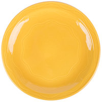 Syracuse China 903033010 Cantina 9 inch Saffron Carved Round Porcelain Plate - 12/Case