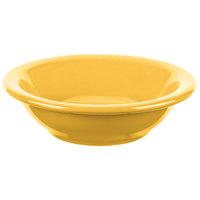 Syracuse China 903044014 Cantina 5 oz. Saffron Uncarved Porcelain Fruit Bowl - 36/Case