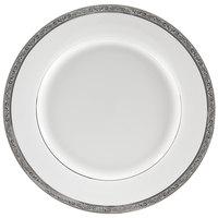 10 Strawberry Street PAR-4P Paradise 8 inch Platinum Porcelain Salad/Dessert Plate - 24/Case