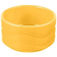 Syracuse China 903033600 Cantina 2 oz. Saffron Carved Stacking Porcelain Bowl - 24/Case