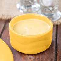 Syracuse China 903033600 Cantina 2 oz. Saffron Carved Stacking Porcelain Bowl - 24/Case