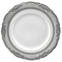 10 Strawberry Street VAN-4P Vanessa 8 inch Platinum Salad / Dessert Plate - 24/Case