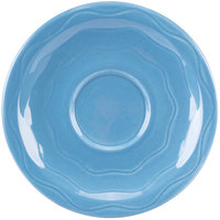 Syracuse China 903032201 Cantina 6 1/4 inch Blueberry Carved Porcelain Saucer - 12/Case