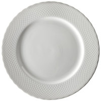10 Strawberry Street WW0001 White Wicker 10 3/8 inch Porcelain Dinner Plate - 24/Case