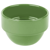 Syracuse China 903046370 Cantina 8 oz. Sage Uncarved Porcelain Stackable Bouillon Bowl - 36/Case