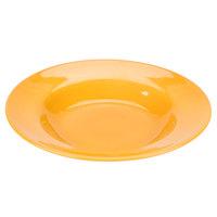 Syracuse China 903044377 Cantina 21 oz. Saffron Uncarved Porcelain Pasta Bowl - 12/Case
