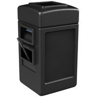 Commercial Zone 755101 28 Gallon Islander Series Black Harbor 1 Waste Container with Towel Dispenser and Windshield Wash Station