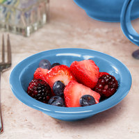 Syracuse China 903043172 Cantina 4 oz. Blueberry Uncarved Porcelain Fruit Bowl - 36/Case