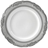 10 Strawberry Street VAN-1P Vanessa 10 3/4 inch Platinum Dinner Plate - 24/Case