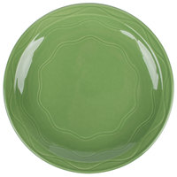Syracuse China 903035002 Cantina 11 1/4 inch Sage Carved Round Porcelain Plate - 12/Case
