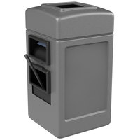 Commercial Zone 755103 28 Gallon Islander Series Gray Harbor 1 Waste Container with Towel Dispenser and Windshield Wash Station