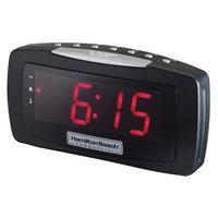 Hamilton Beach HCR330 AM/FM Black Alarm Clock Radio - 120V