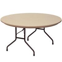Correll RX60R 60 inch Round Mocha Granite Plastic Tamper-Resistant Folding Table