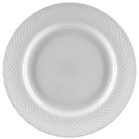 10 Strawberry Street WW0004 White Wicker 7 1/2 inch Porcelain Salad / Dessert Plate - 24/Case