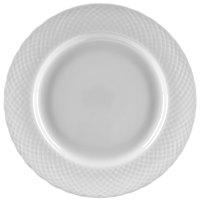 Ten Strawberry Street WW0004 White Wicker 7 1/2 inch Porcelain Salad / Dessert Plate   - 24/Case