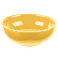 Syracuse China 903044002 Cantina 5 oz. Saffron Uncarved Porcelain Salsa Bowl - 12/Case