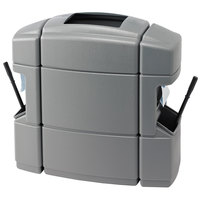 Commercial Zone 770135 40 Gallon Islander Series Waste 'N Wipe Silver Waste Container with 2 Paper Towel Dispensers and 2 Windshield Wash Stations