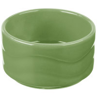 Syracuse China 903035600 Cantina 2 oz. Sage Carved Stacking Porcelain Bowl - 24/Case