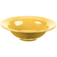 Syracuse China 903033019 Cantina 12 oz. Saffron Carved Porcelain Grapefruit Bowl - 12/Case