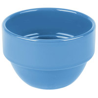 Syracuse China 903043370 Cantina 8 oz. Blueberry Uncarved Stackable Porcelain Bouillon - 36/Case
