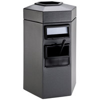 Commercial Zone 755324 45 Gallon Islander Series Gray Bermuda 1 Hexagonal Waste Container with Paper Towel Dispenser and Windshield Wash Station