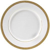 10 Strawberry Street PAR-4G Paradise 8 inch Gold Porcelain Salad/Dessert Plate - 24/Case