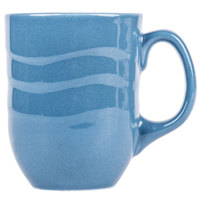 Syracuse China 903032004 Cantina 11 oz. Blueberry Carved Porcelain Mug - 12/Case