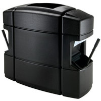 Commercial Zone 758701 40 Gallon Islander Series Waste 'N Wipe Black Waste Container with 2 Paper Towel Dispensers and 2 Windshield Wash Stations