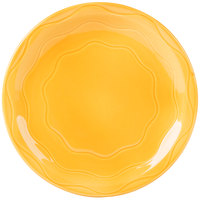 Syracuse China 903033011 Cantina 10 1/4 inch Saffron Carved Round Porcelain Plate - 12/Case