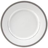 10 Strawberry Street LUX-2P Luxor 9 1/8 inch Platinum Porcelain Luncheon Plate - 24/Case