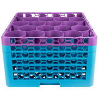 Carlisle RW20-4C414 OptiClean NeWave 20 Compartment Lavender Color-Coded Glass Rack with 5 Extenders