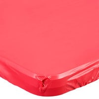 Creative Converting 37327 Stay Put 30 inch x 96 inch Real Red Plastic Table Cover   - 12/Case