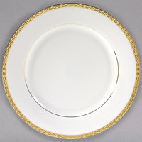 10 Strawberry Street ATH-1G Athens 10 3/4 inch Gold Porcelain Dinner Plate - 24/Case