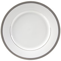 10 Strawberry Street LUX-1P Luxor 10 3/4 inch Platinum Porcelain Dinner Plate - 24/Case