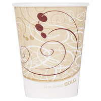Dart Solo IC12-J8000 Duo Shield Symphony 12 oz. Poly Paper Hot Cup - 600/Case