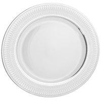 10 Strawberry Street IRIANA-4SLV Iriana 7 1/2 inch Silver Porcelain Salad / Dessert Plate - 24/Case