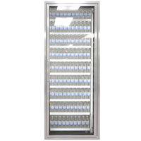 Styleline ML3075-LT MOD//Line 30 inch x 75 inch Modular Walk-In Freezer Merchandiser Door with Shelving - Bright Silver Smooth, Right Hinge