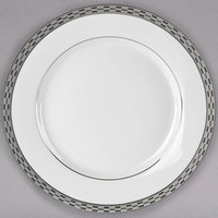 10 Strawberry Street ATH-4P Athens 8 inch Platinum Porcelain Salad / Dessert Plate - 24/Case