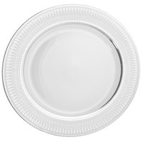 10 Strawberry Street IRIANA-1SLV Iriana 10 1/4 inch Silver Porcelain Dinner Plate - 24/Case