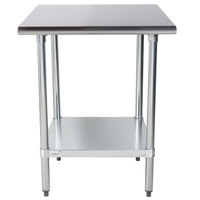 Advance Tabco ELAG-300-X 30 inch x 30 inch 16 Gauge Stainless Steel Work Table with Galvanized Undershelf