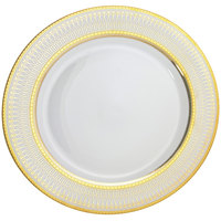 10 Strawberry Street IRIANA-1GLD Iriana 10 1/4 inch Gold Porcelain Dinner Plate - 24/Case