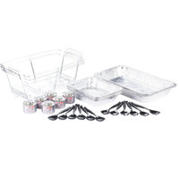 30 Piece Full Size Disposable Buffet Serving Set / Chafer Dish Kit with Serving Utensils